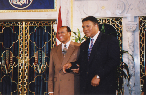 Minister Louis Farrakhan with Muhammad Ali