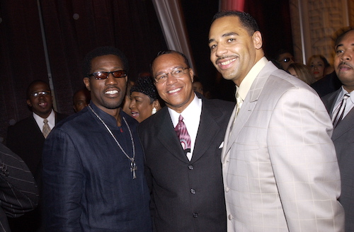 Wesley Snipes, Ed Gordon, Minister Farrakhan Photo: FCN Archives