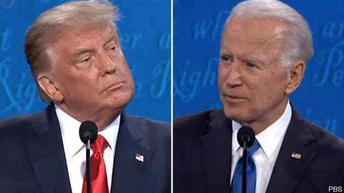 Final Presidential Debate between Donald Trump and Joe Biden. Photo: MGN Online